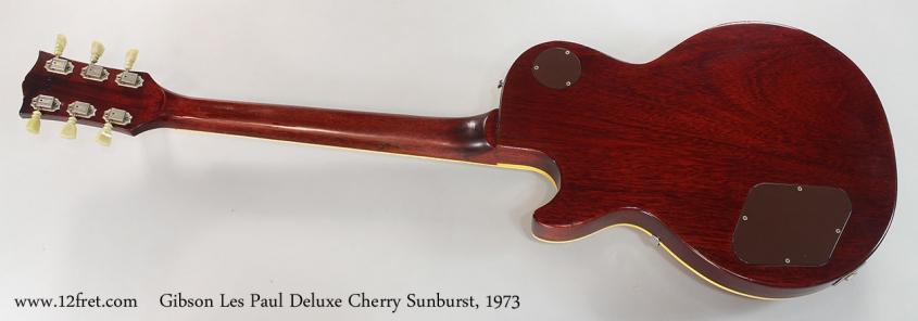 Gibson Les Paul Deluxe Cherry Sunburst, 1973 Full Rear View
