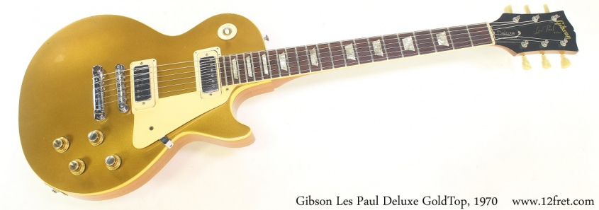 Gibson Les Paul Deluxe GoldTop, 1970 Full Front View