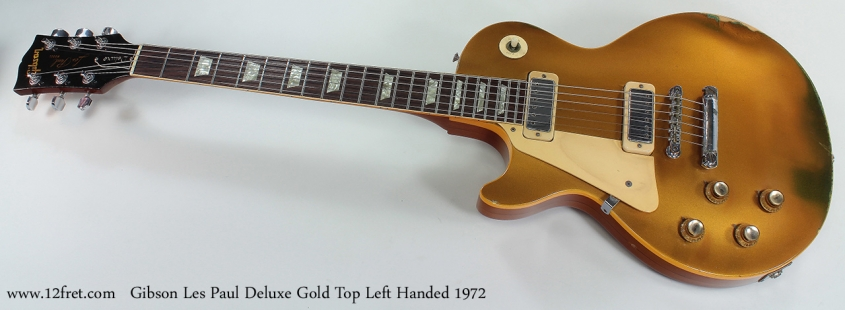 Gibson Les Paul Deluxe Gold Top Left Hand 1972 full front view
