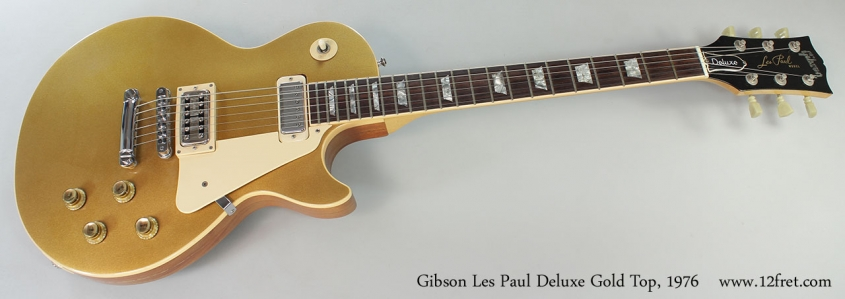 Gibson Les Paul Deluxe Gold Top, 1976 Full Front View