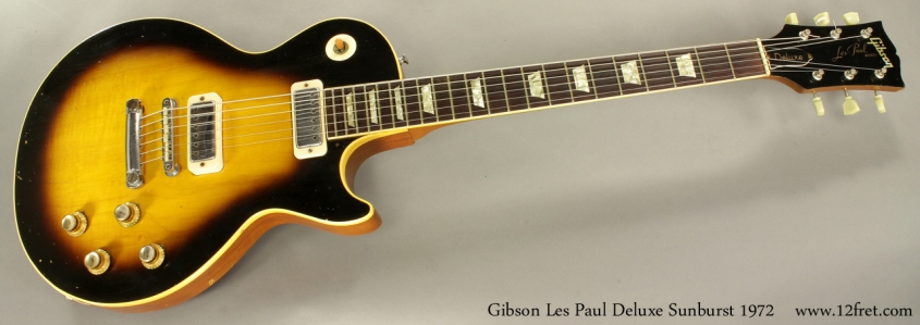 Gibson Les Paul Deluxe Sunburst 1972 full front view