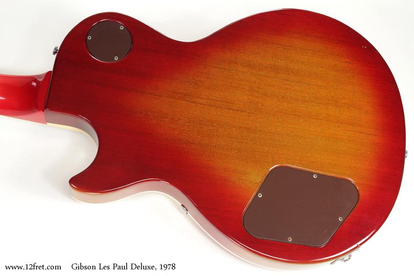 Gibson Les Paul Deluxe Sunburst 1978 back