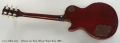 Gibson Les Paul Deluxe Wine Red, 1980 Full Rear View