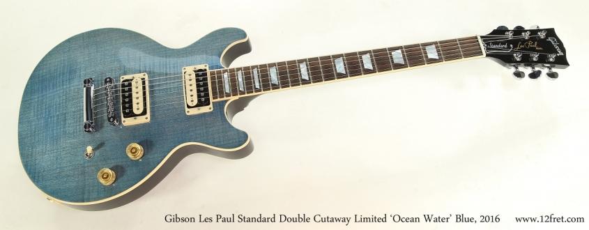 Gibson Les Paul Standard Double Cutaway Limited 'Ocean Water' Blue, 2016  Full Front View