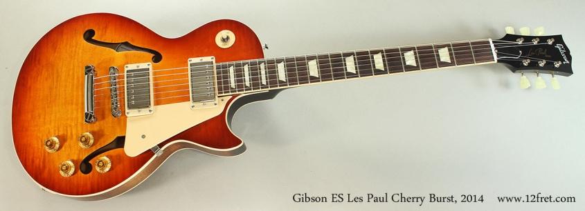 Gibson ES Les Paul Cherry Burst, 2014 Full Front View