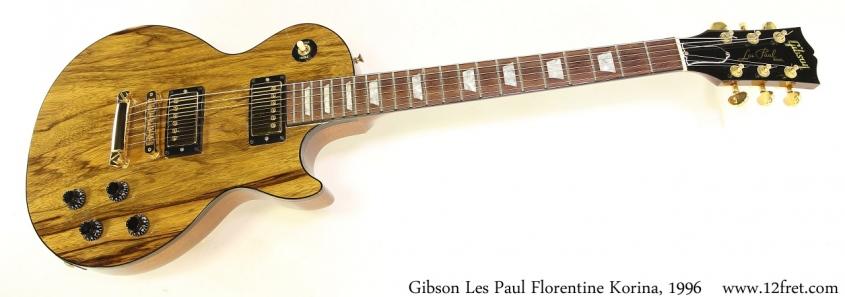 Gibson Les Paul Florentine Korina, 1996 Full Front View