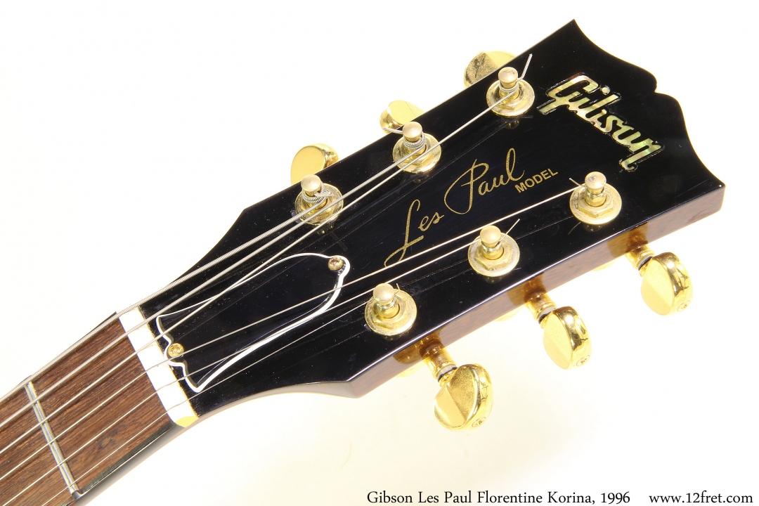 Gibson Les Paul Florentine Korina, 1996 Head Front View