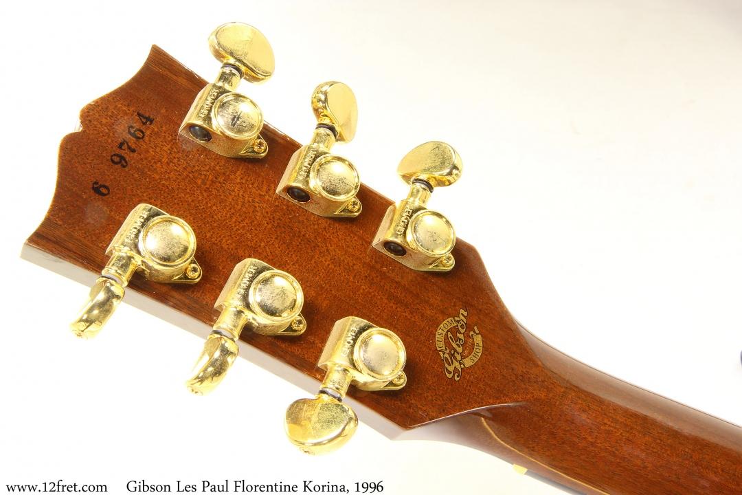 Gibson Les Paul Florentine Korina, 1996 Head Rear View