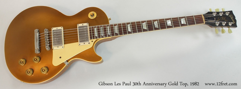 Gibson Les Paul 30th Anniversary Gold Top, 1982 Full Front View