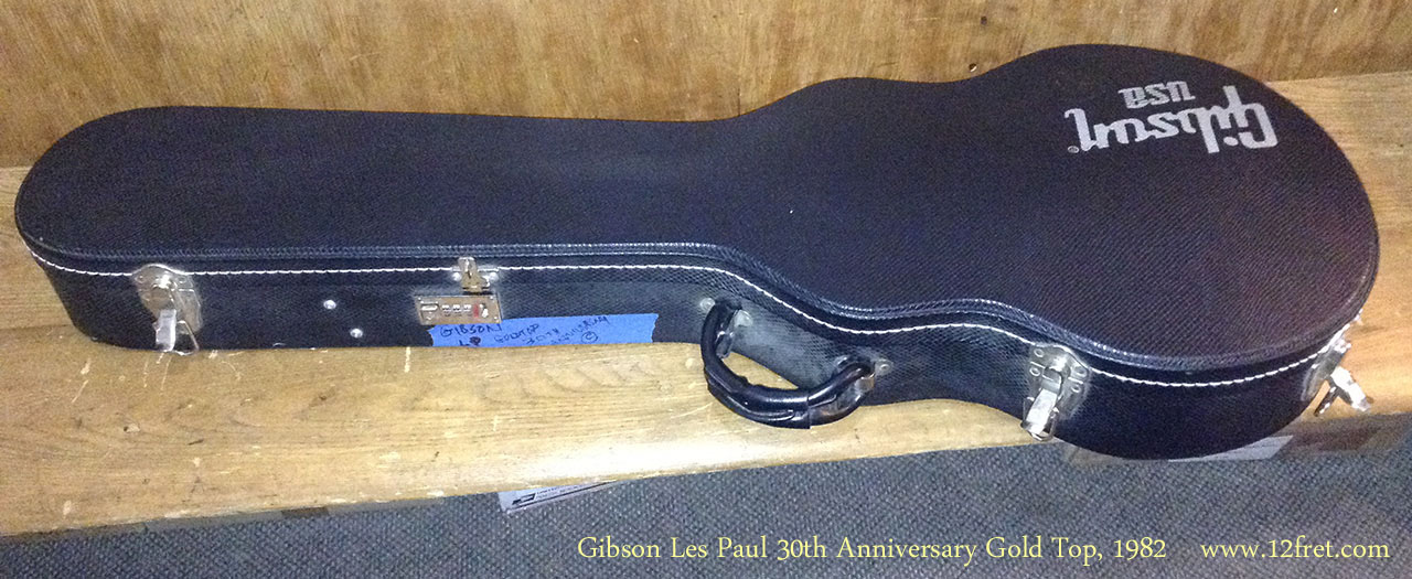 Gibson Les Paul 30th Anniversary Gold Top, 1982 Case Top