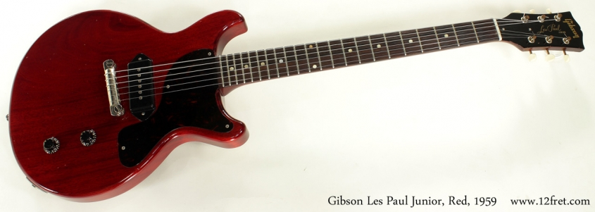 Gibson Les Paul Junior Cherry Red 1959 full front view