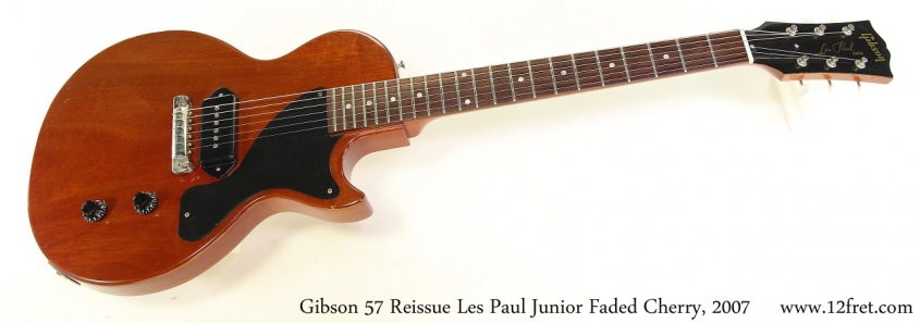 Gibson 57 Reissue Les Paul Junior Faded Cherry, 2007 Full Front View