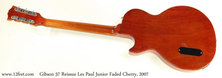 Gibson 57 Reissue Les Paul Junior Faded Cherry, 2007 Full Rear View