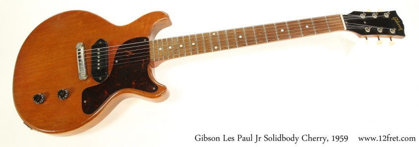 Gibson Les Paul Jr Solidbody Cherry, 1959 Full Front View