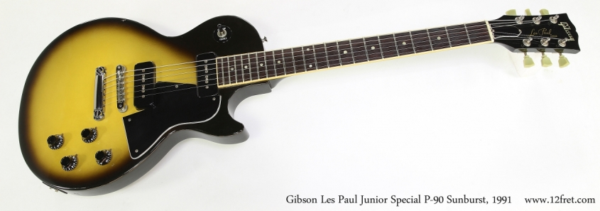 Gibson Les Paul Junior Special P-90 Sunburst, 1991   Full Front View