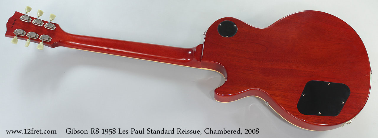 Gibson R8 1958 Les Paul Standard Reissue, Chambered, 2008 Fulll Rear View