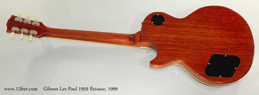 Gibson Les Paul 1959 Reissue, 1999 Full Rear View