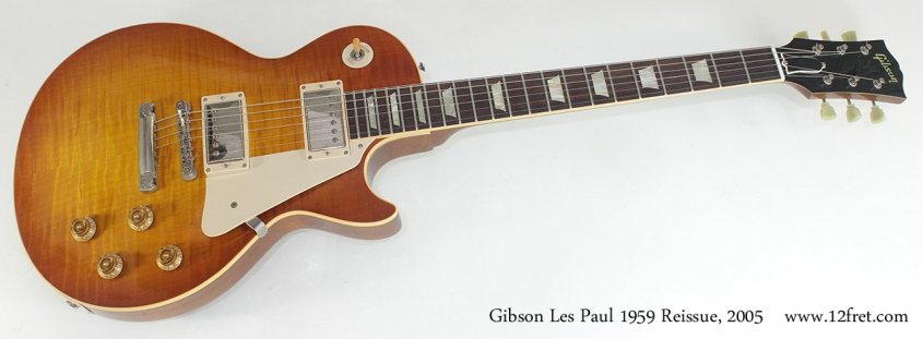 Gibson Les Paul 1959 Reissue 2005 full front view