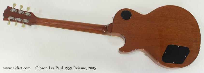 Gibson Les Paul 1959 Reissue 2005 full rear view