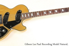 Gibson Les Paul Recording Model Natural, 1972 Full Front View