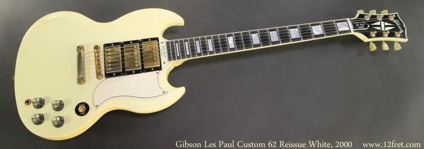 Gibson Les Paul Custom 62 Reissue White, 2000 Full Front View