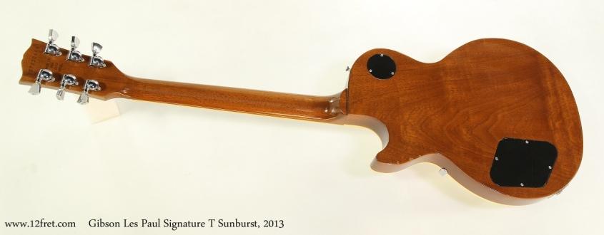 Gibson Les Paul Signature T Sunburst, 2013 Full Rear View