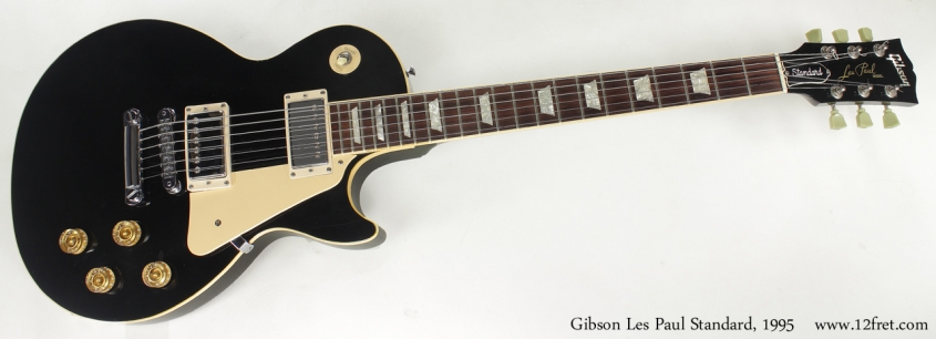 Gibson Les Paul Standard Black 1995 full front view