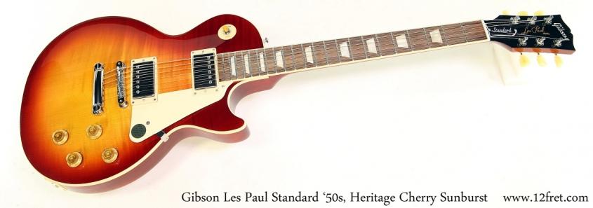 Gibson Les Paul Standard '50s, Heritage Cherry Sunburst Full Front View