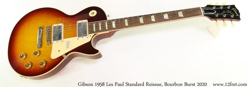 Gibson 1958 Les Paul Standard Reissue, Bourbon Burst 2020 Full Front View