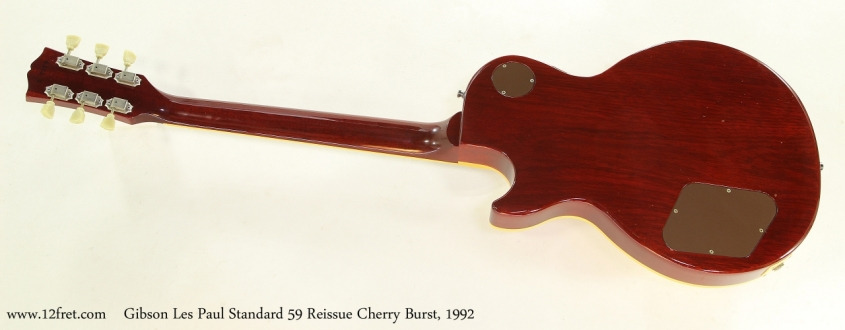 Gibson Les Paul Standard 59 Reissue Cherry Burst, 1992  Full Rear View