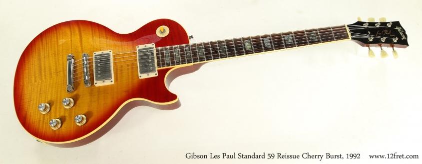 Gibson Les Paul Standard 59 Reissue Cherry Burst, 1992  Full Front View