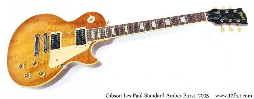 Gibson Les Paul Standard Amber Burst, 2005 Full Front View