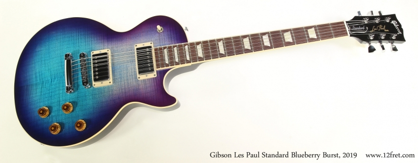 Gibson Les Paul Standard Blueberry Burst, 2019  Full Front View