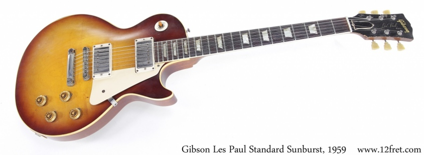 Gibson Les Paul Standard Sunburst, 1959 Full Front View