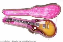 Gibson Les Paul Standard Sunburst, 1959 Case Open View