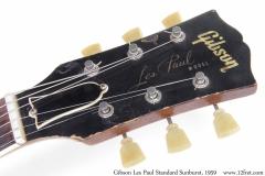 Gibson Les Paul Standard Sunburst, 1959 Head Front View