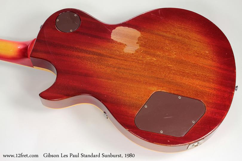 Gibson Les Paul Standard Sunburst 1980 back
