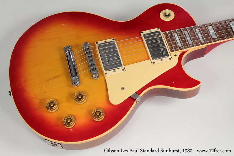 Gibson Les Paul Standard Sunburst 1980 top