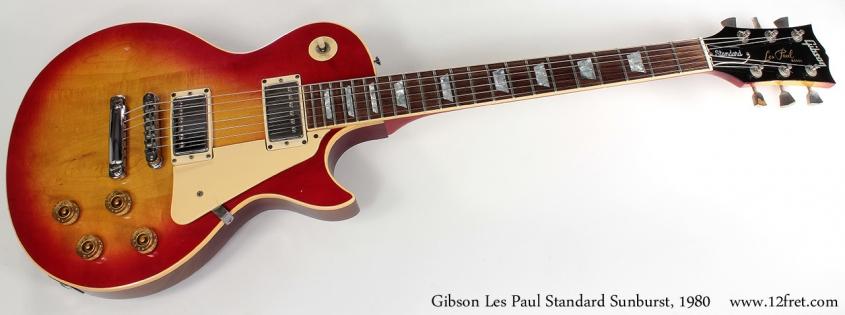 Gibson Les Paul Standard Sunburst 1980 full front view