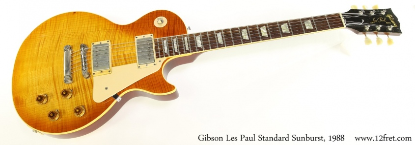 Gibson Les Paul Standard Sunburst, 1988 Full Front View