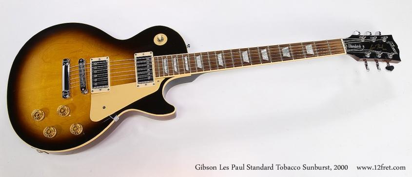 Gibson Les Paul Standard Tobacco Sunburst, 2000 Full Front View