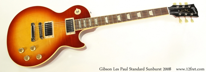Gibson Les Paul Standard Sunburst 2008   Full Front View