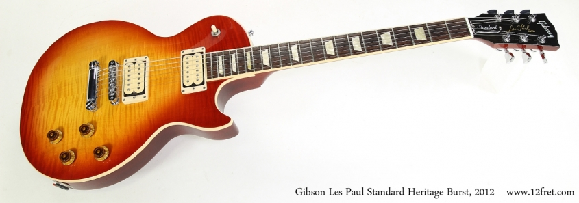 Gibson Les Paul Standard Heritage Burst, 2012   Full Front View