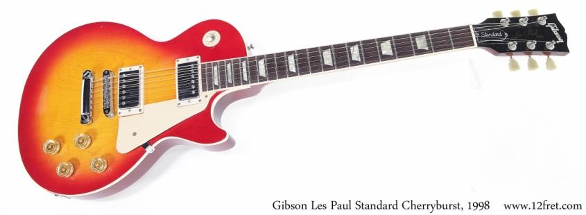 Gibson Les Paul Standard Cherryburst, 1998 Full Front View