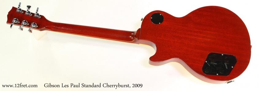 Gibson Les Paul Standard Cherryburst, 2009 Full Rear View