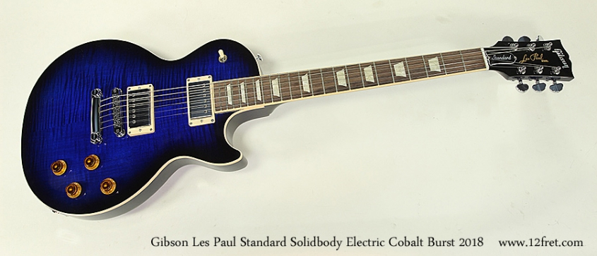 Gibson Les Paul Standard Solidbody Electric Cobalt Burst 2018 Full Front View