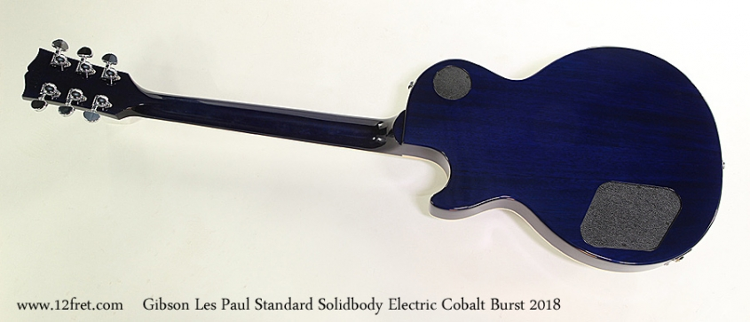 Gibson Les Paul Standard Solidbody Electric Cobalt Burst 2018 Full Rear View