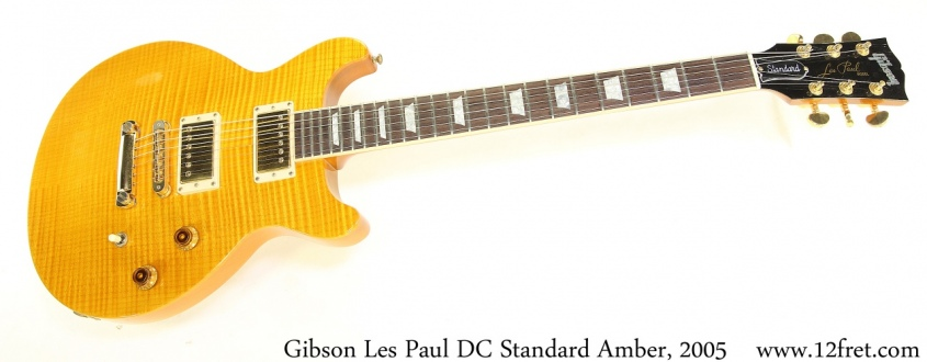 Gibson Les Paul DC Standard Amber, 2005 Full Front View