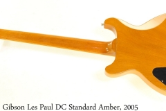 Gibson Les Paul DC Standard Amber, 2005 Full Rear View