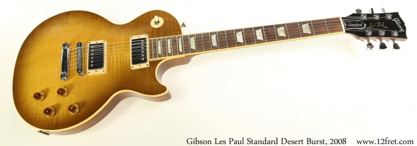 Gibson Les Paul Standard Desert Burst, 2008 Full Front View